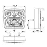 Horpol LED Rear Lamp Square 5P LZD 2102_