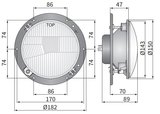 Headlamp R2 Ø182x89 Incl 12V Bulbs_