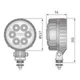 LED Worklight Spotlight 2500LM + AMP Faston_