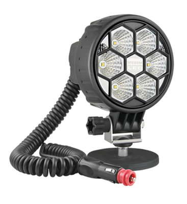 LED Work Light Flood 2500LM With Magnetic Holder and 8m Spiral Cable