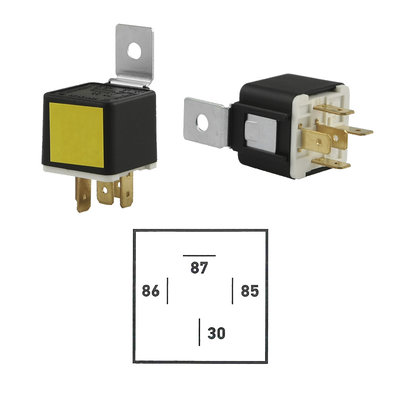 12 Volt Make-Contact Relay 30A