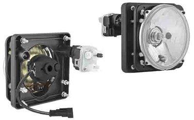Headlamp Ø139/131x75, H4, Electric Leveling Unit