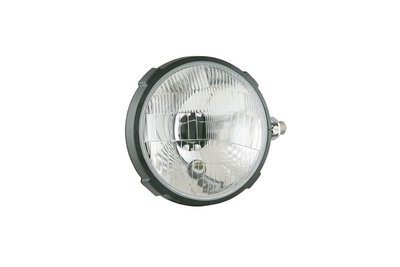 Headlamp, H4, Ø161x112 Plastic
