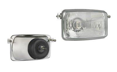 Headlamp, H4, 156x93x86, 2 bolt mounting