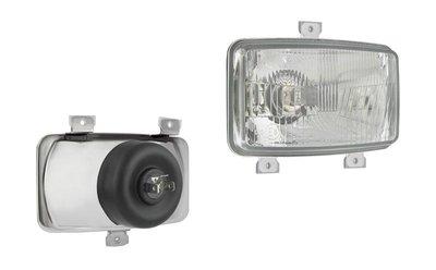Headlamp, H4, 156x93x86, 3 bolt mounting