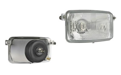 Headlamp, H4, 156x93x79, 2 bolt mounting