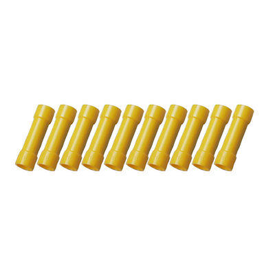 Insulated Butt Connectors Yellow (4-6mm)