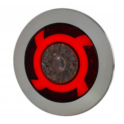 Horpol LED Rear Lamp Chrome Lucy 122mm LZD 2425