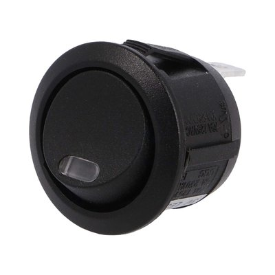 Built-in Rocker Switch Round 24V 10A Red