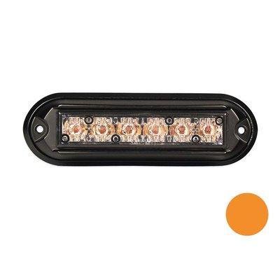 Flashing Led Lamp with Black Housing Orange