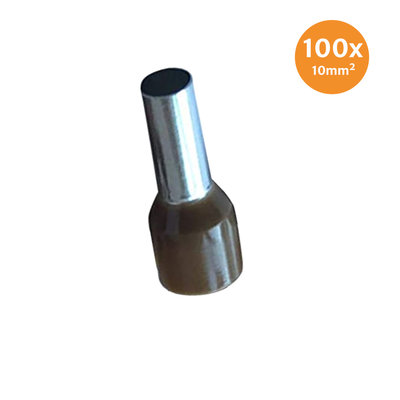 Electric End Terminal Insulated 10mm² Brown 100 Pieces