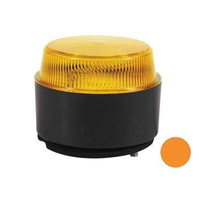 LED Flash Beacon with Flat Base Orange