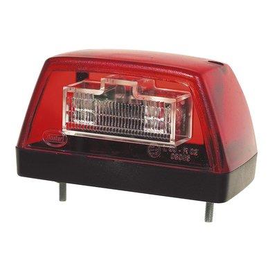 LED Number Plate Lamp Red 24V
