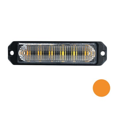 LED flasher 6-fold Ultra Flat Orange