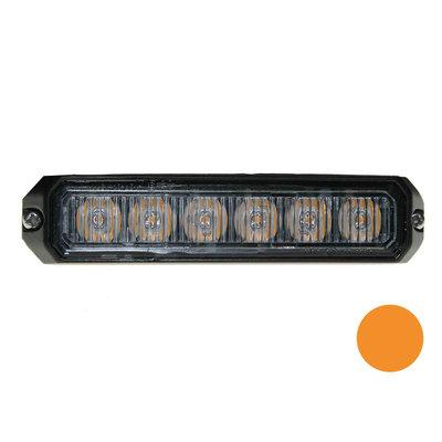 LED flitser 6-voudig compact Orange