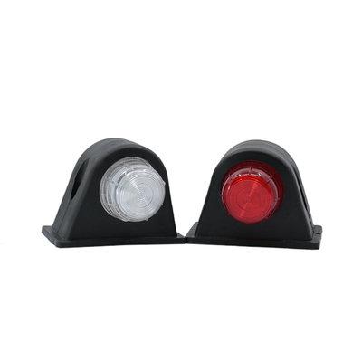 LED 2-Function Marker Lamp 10-30V Red + White (Set)