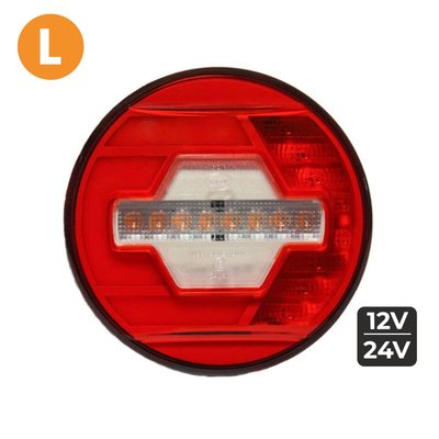 LED Rear Lamp Left Ø140mm + Dynamic side-indicator