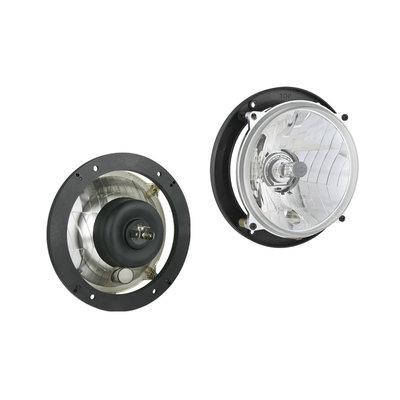Headlamp Ø139x75 H4 hole pattern 106x106