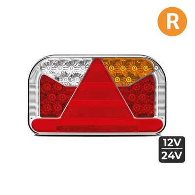 Fristom FT-170 LED Rear Lamp + License Plate Light Cable Right