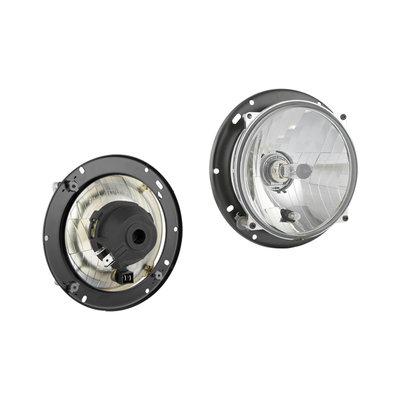 Headlamp H4 Ø182x77 + Bulb holder