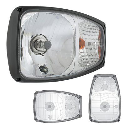 Headlicht With Direction Indicator Left + 12V Bulbs