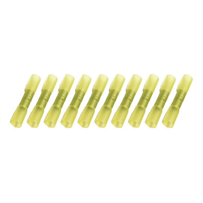 Cable Shoes With Heat Shrink Waterproof Yellow (4-6mm) 10 Pieces