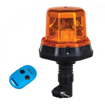 Horpol LED Flash Beacon + Remote Control DIN Bracket Orange LDO 2276