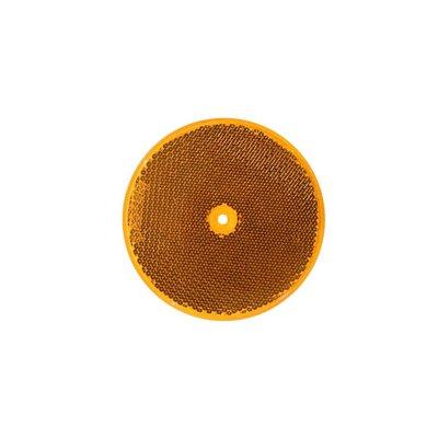 Reflector round 8cm Orange