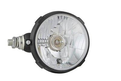 Headlamp Ø161x115, H4, plastic, left