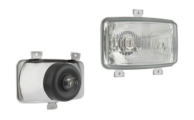 Headlamp H4 156x93x86 3-bolt mounting