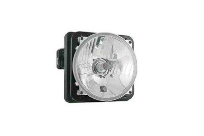 Headlamp Ø150x79 H4 Electric Leveling Unit