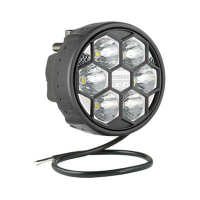 LED Worklight Spotlight 2500LM + Cable + Rear mount