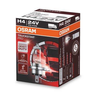 Osram H4 Halogen Lamp 24V 75/70W P43t Truckstar Pro