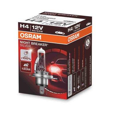 Osram H4 Halogen Lamp 12V 60/55W P43t Night Breaker Silver