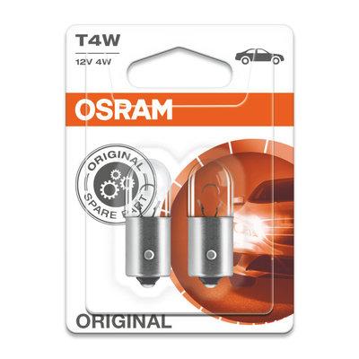 Osram T4W 12V Bulb BA9s Original Line 2 Pieces