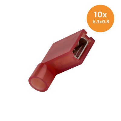 Insulated Flag Terminal Red 10 Pieces
