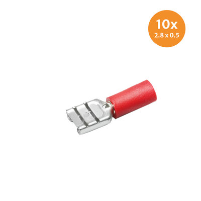 Part Insulated Female Disconnects Red (2,8x0,5mm) 10 Pieces
