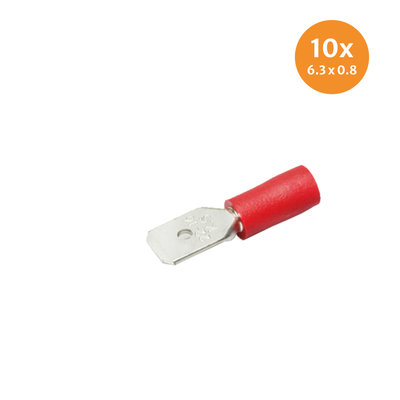 Insulated Blade Terminals Red (6,3x0,8mm) 10 Pieces