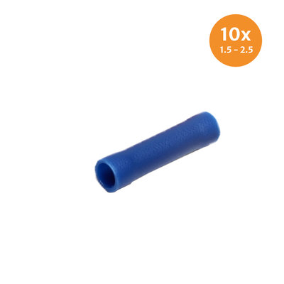 Insulated Butt Connectors Blue (1.5-2.5mm) 10 Pieces