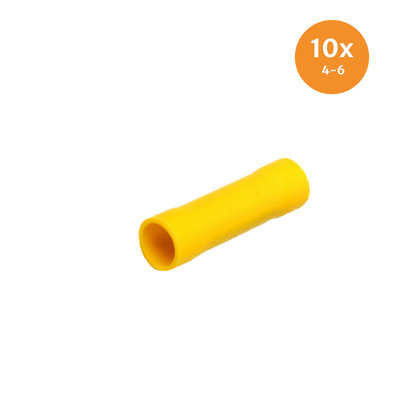 Insulated Butt Connectors Yellow (4-6mm) 10 Pieces