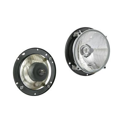 Headlamp H4 Ø182x77 + Mounting Plate