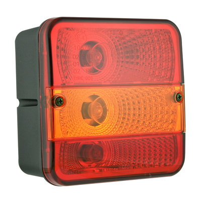 Multifunctional Rear Lamp Square 3-Functions
