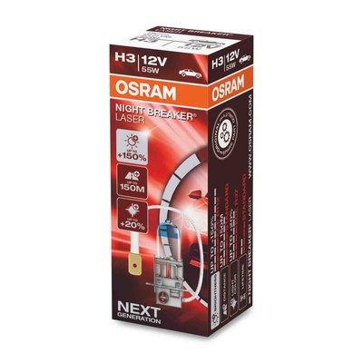 Osram H3 Halogen Lamp 12V 55W PK22s Night Breaker Laser