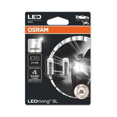 Osram T4W LED Retrofit White 12V BA9s 2 Pieces