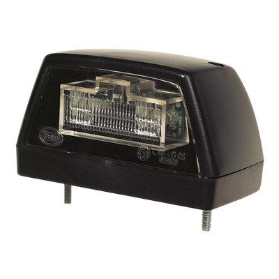 Led Number Plate Lamp Black 12V