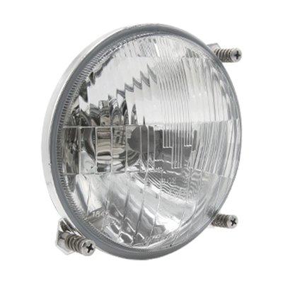 Headlight Massey Ferguson H4 Ø138mm 3-Bolt Mounting