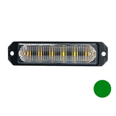 LED flasher 6-fold Ultra Flat Green