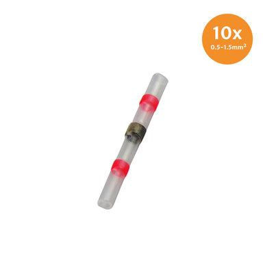 Heatshrink Solder Connectors Waterproof Red (0.5-1.5mm) 10 Pieces