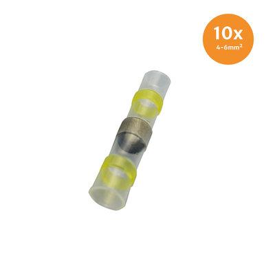 Heatshrink Solder Connectors Waterproof Yellow (4-6mm) 10 Pieces