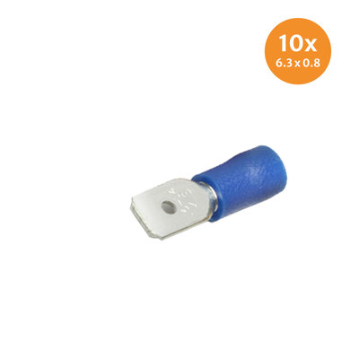 Insulated Blade Terminals Blue (6,3x0,8mm) 10 Pieces
